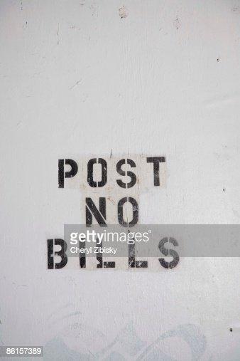 Post No Bills in graffiti