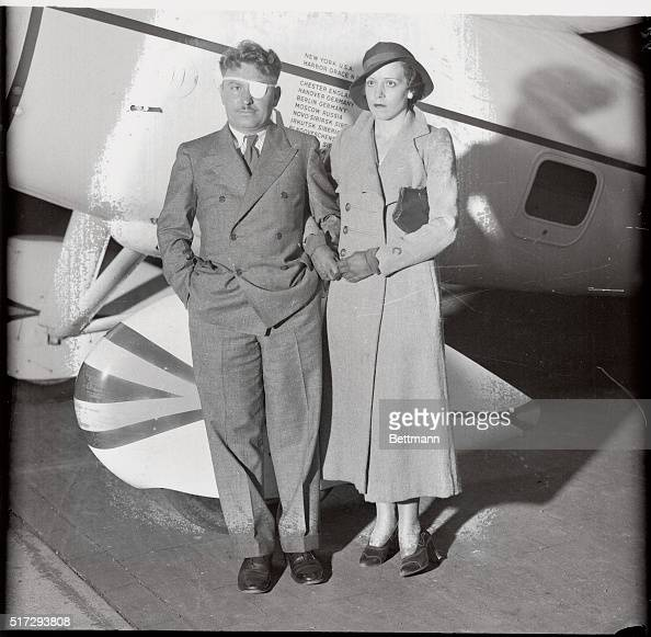 Wiley Post Posing With Wife And Airplane Pictures