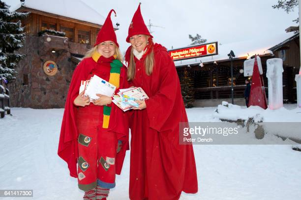 Post Office elves Heidi and Ritta collect letters from the Arctic Circle post office for reading sorting and reply The 'real' Santa Claus is...