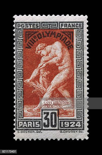 Postage stamp commemorating the 8th Olympic Games in Paris 1924 France 20th century France