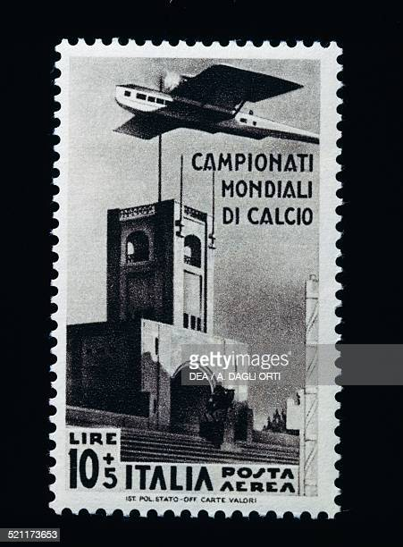 Postage stamp for the 1934 FIFA World Cup 10 lire and 5 airmail stamp Italy 20th century Italy