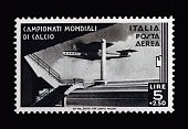 Postage stamp for the 1934 FIFA World Cup 50 lire and 250 airmail stamp Italy 20th century Italy
