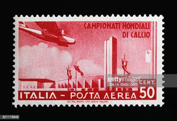 Postage stamp for the 1934 FIFA World Cup 50cent airmail stamp Italy 20th century Italy