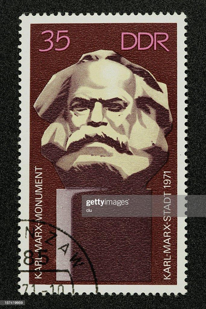 Postage stamp Karl Marx German Democratic Republic