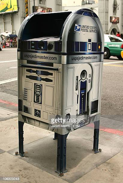 US Postal Service 'Star Wars' R2D2 mailbox on Hollywood Blvd in front of Grauman's Chinese Theatre March 19th 2007