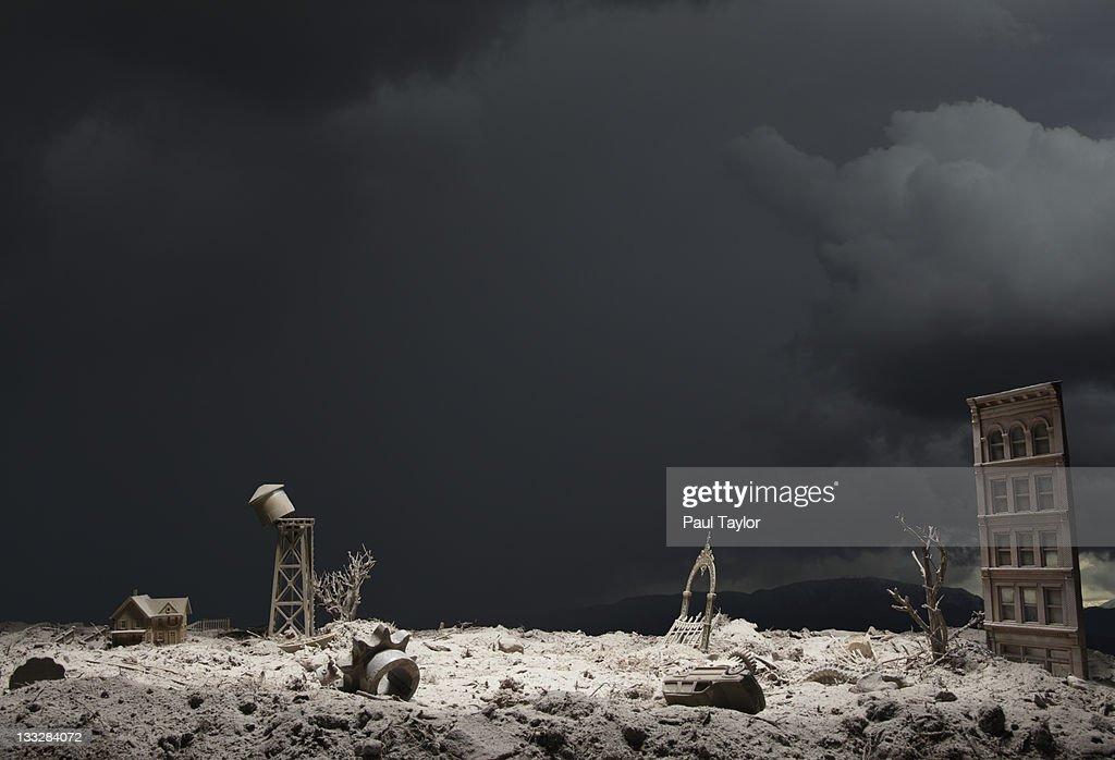 Post-Apocalyptic Wasteland : Stock Photo