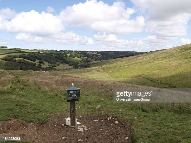 Postbox in the middle of nowhere Exmoor Devon UK