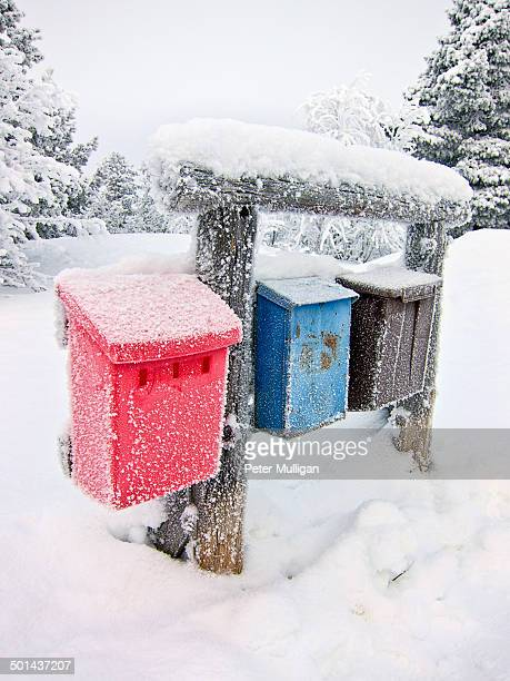 Postbox winter scene