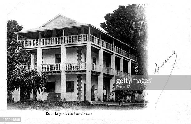 Postcard Conakry Hotel de France Guinea Private collection