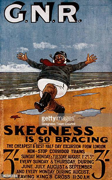 Postcard of poster produced for the Great Northern Railway Artwork by John Hassall The 'Jolly Fisherman' poster at Skegness is one of the most famous...