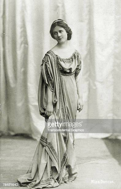 Postcard portrait of American ballet dancer Isadora Duncan early twentieth century