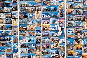 Postcards on Display Rack