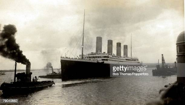 Postcards Shipping A picture of the white star triplescrew steamer the Titanic which was launched at Belfast on the 31st May 1911 and was the largest...