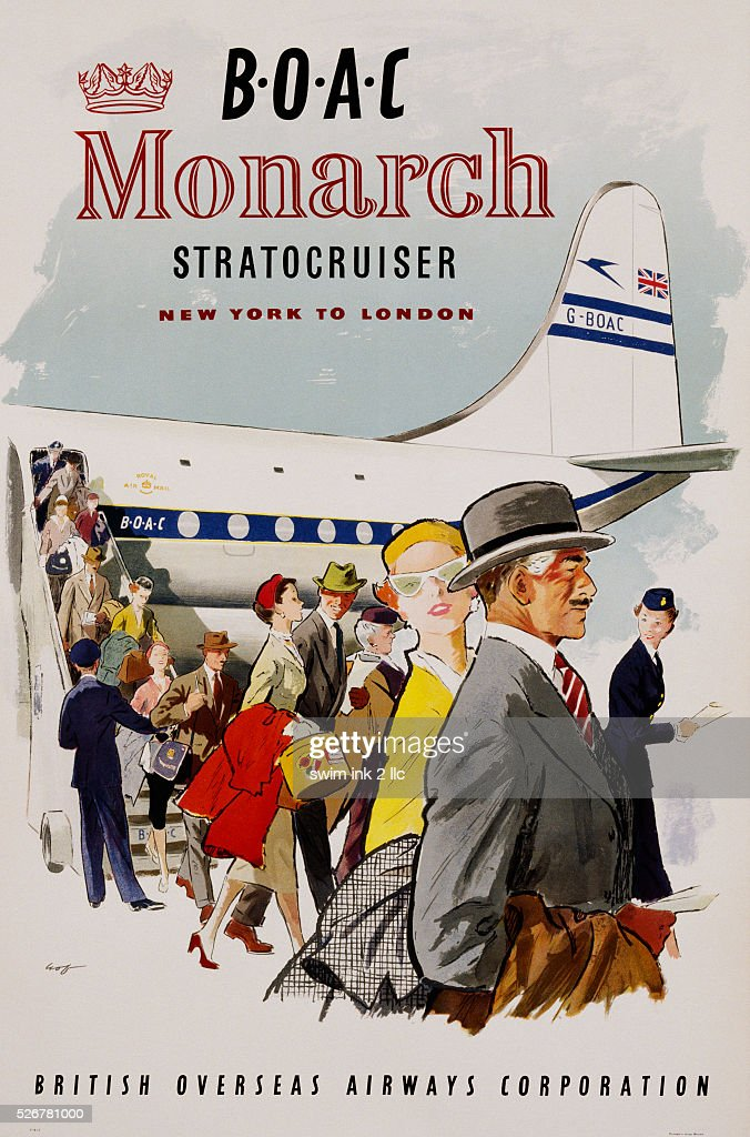 Poster Advertisement for B-O-A-C Monarch Stratocruiser