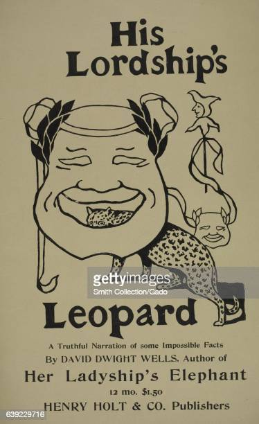 A poster advertising the novel 'His Lordship's Leopard ' by David Dwight 1903 From the New York Public Library