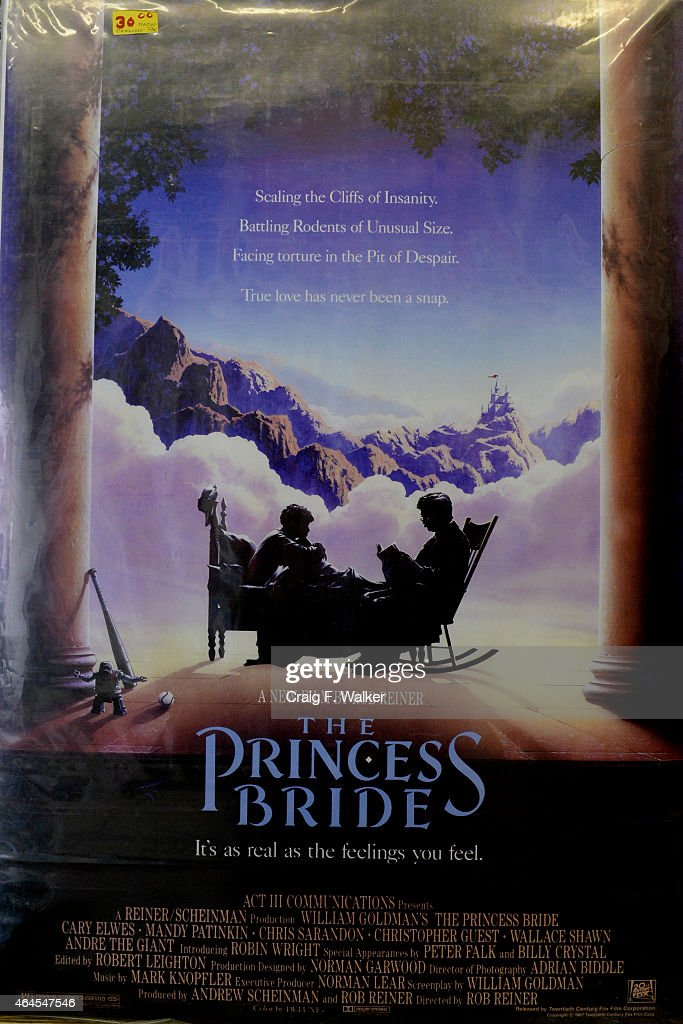 A poster advertising The Princess Bride is displayed at Hollywood Posters at his shop on Colfax Ave in Denver CO February 26 2015 Owner John Caruso...
