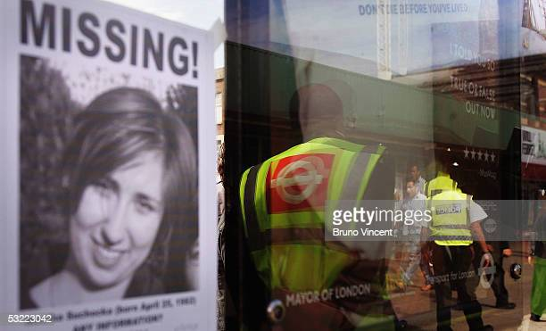 A poster asking for help in finding a person who went missing around the time of thursdays terrorist attacks is seen outside of Kings Cross station...