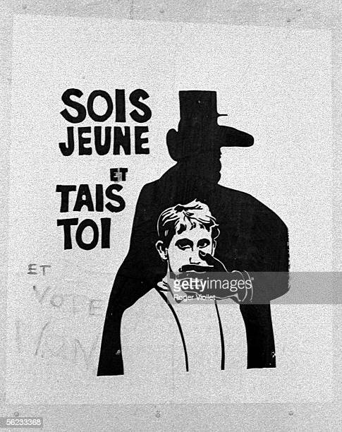 Poster 'Be young and shut up' Paris 1968 HA21454