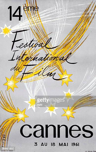 Poster by AM Rodicq for 14th International Film Festival in Cannes in 1961