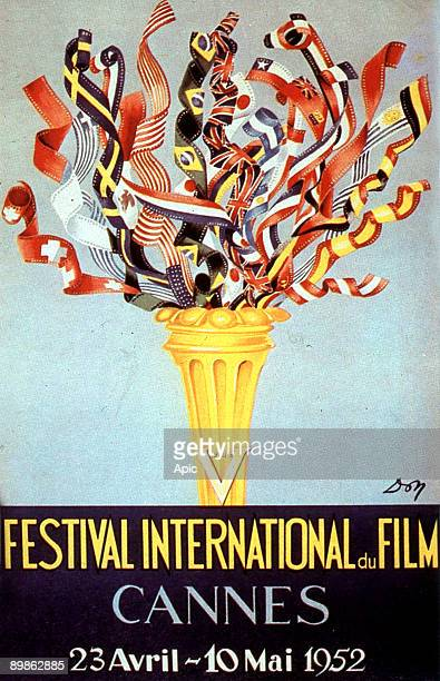 Poster by Jean Don for 5th International Film Festival in Cannes in 1952