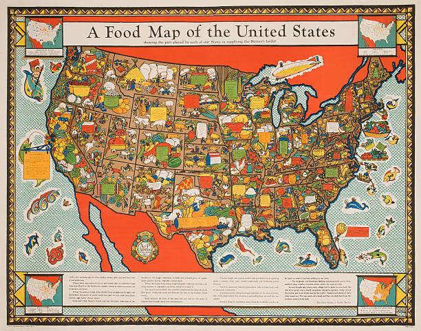 A food map of the united states pictures getty images a food map of the united states sciox Image collections