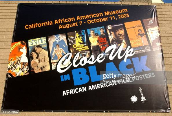 Poster during African American Movie Posters Exhibition at California African American Museum in Los Angeles California United States