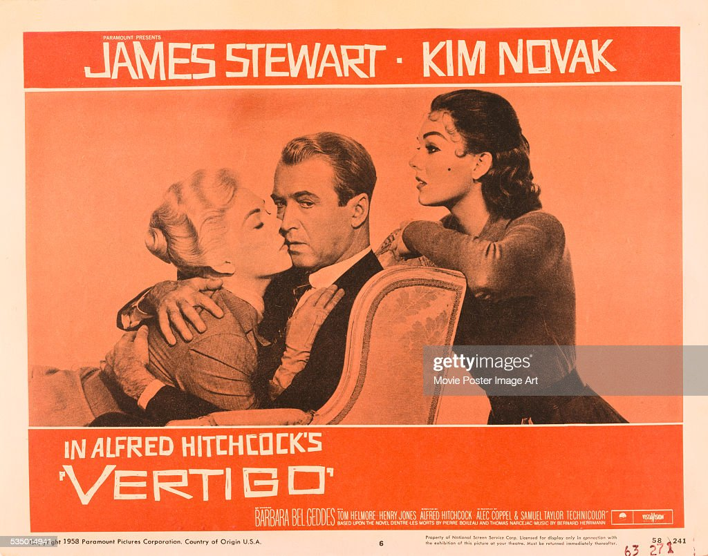 vertigo pictures getty images a poster for alfred hitchcock s 1958 thriller vertigo starring james stewart and