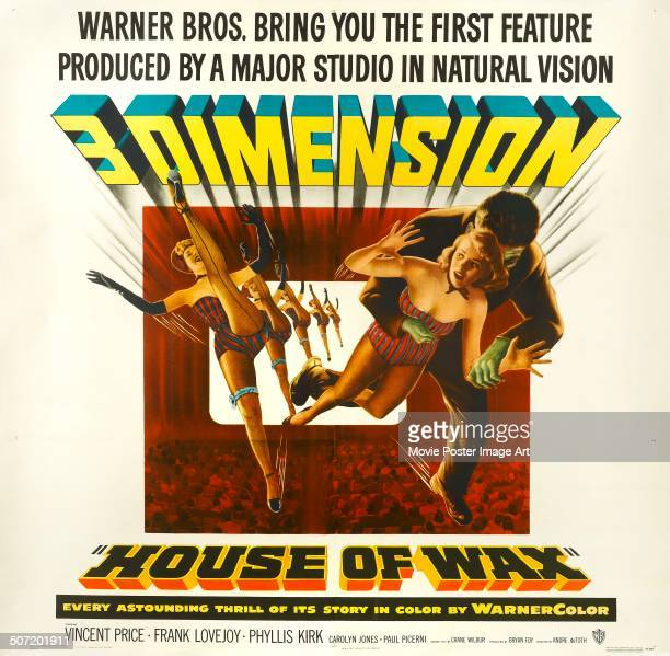 A poster for André De Toth's 1953 horror 'House of Wax'