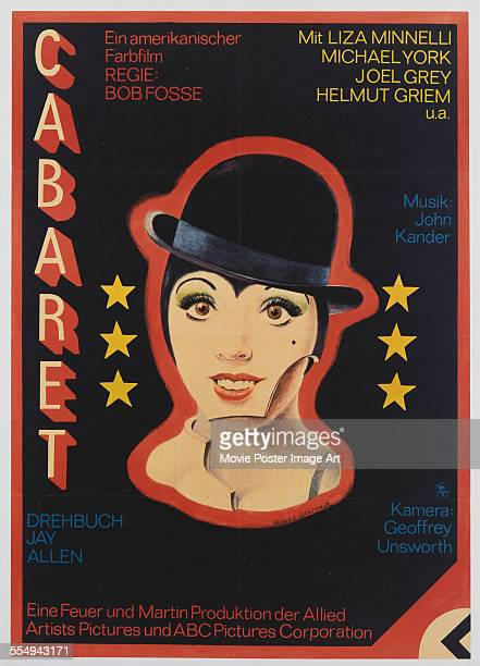 A poster for Bob Fosse's 1972 musical 'Cabaret' starring Liza Minnelli