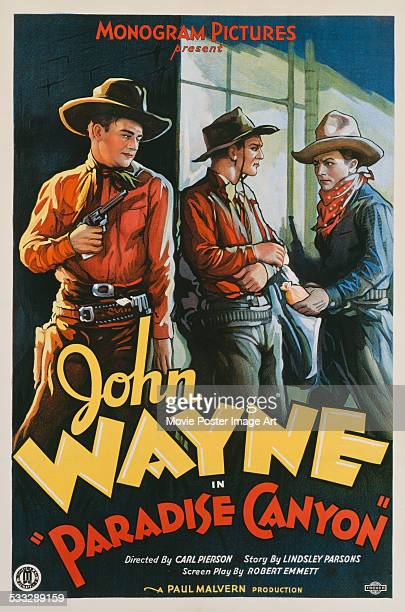 A poster for Carl Pierson's 1935 western 'Paradise Canyon' starring John Wayne