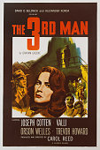 A poster for Carol Reed's 1949 mystery film 'The Third Man' starring Orson Welles Joseph Cotten Alida Valli and Trevor Howard