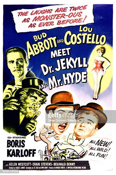 A poster for Charles Lamont's 1953 comedy horror film 'Abbot And Costello Meet Dr Jekyll And Mr Hyde' starring Bud Abbott and Lou Costello