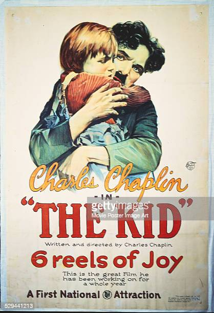 A poster for Charlie Chaplin's 1921 comedy 'The Kid'