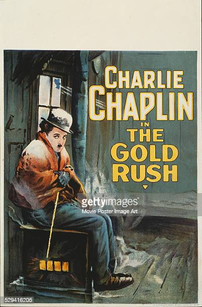 A poster for Charlie Chaplin's 1925 comedy 'The Gold Rush'