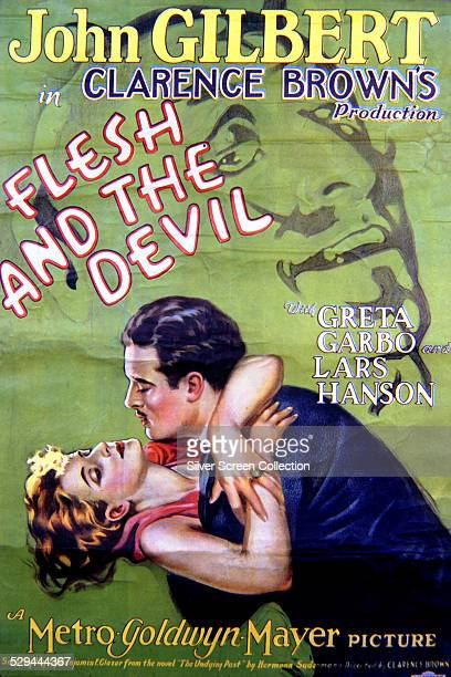 A poster for Clarence Brown's 1926 silent romantic drama 'Flesh And The Devil' starring John Gilbert and Greta Garbo