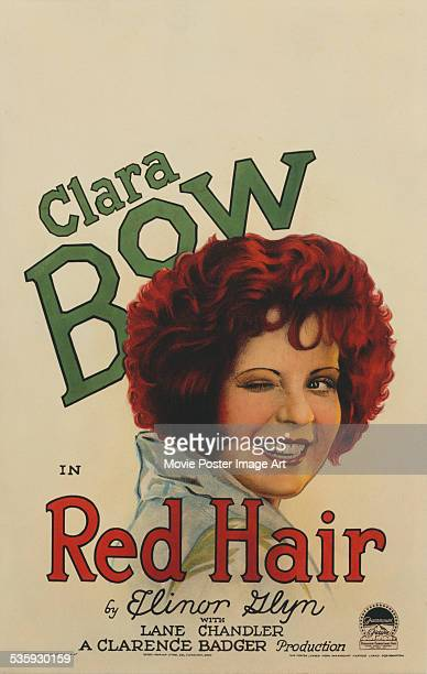 A poster for Clarence G Badger's 1928 comedy 'Red Hair' starring Clara Bow