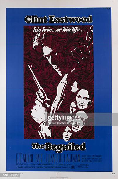 A poster for Don Siegel's 1971 drama 'The Beguiled' starring Clint Eastwood