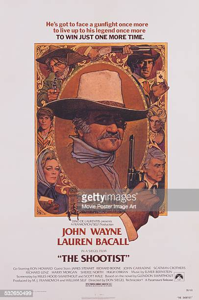 A poster for Don Siegel's 1976 drama 'The Shootist' starring John Wayne