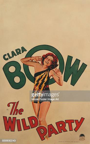 A poster for Dorothy Arzner's 1929 comedy 'The Wild Party' starring Clara Bow