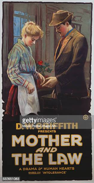 A poster for DW Griffith's 1919 drama 'The Mother and the Law' starring Robert Harron
