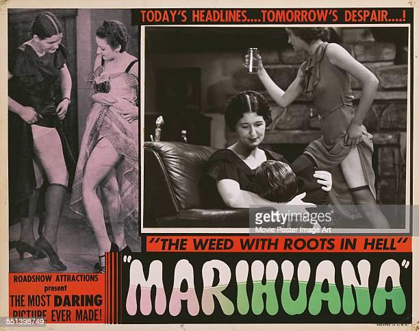 A poster for Dwain Esper's 1936 crime film 'Marihuana'