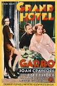 A poster for Edmund Goulding's 1932 drama 'Grand Hotel' starring Greta Garbo John Barrymore and Joan Crawford