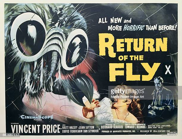 A poster for Edward Bernds' 1959 horror film 'Return of the Fly'