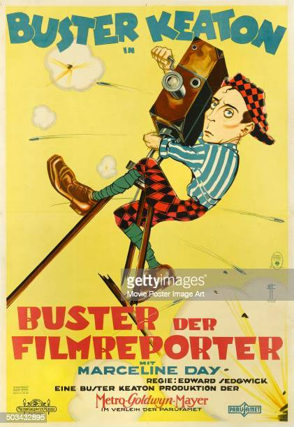 A poster for Edward Sedgwick's 1928 comedy 'The Cameraman' starring Buster Keaton