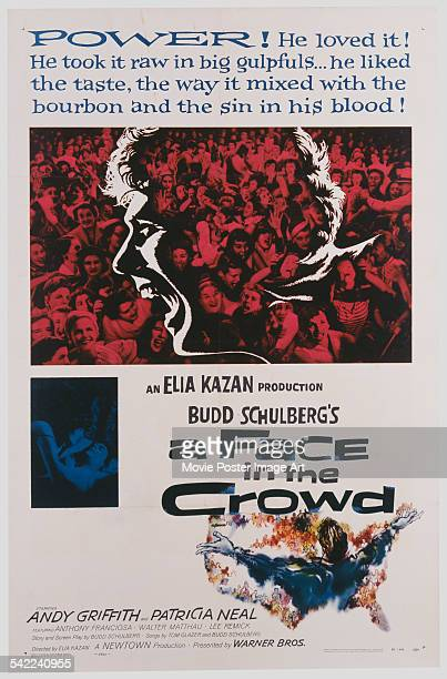 A poster for Elia Kazan's 1957 drama 'A Face in the Crowd' starring Andy Griffith
