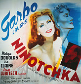 A poster for Ernst Lubitsch's 1939 comedy 'Ninotchka' starring Greta Garbo