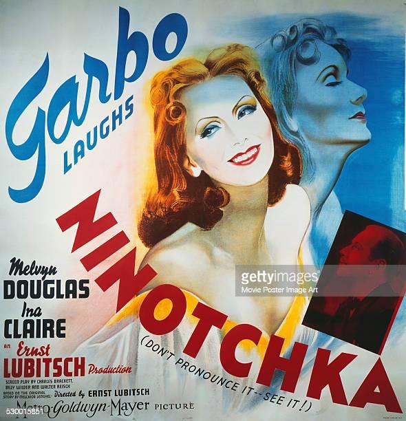 A poster for Ernst Lubitsch's 1939 comedy 'Ninotchka' starring Greta Garbo
