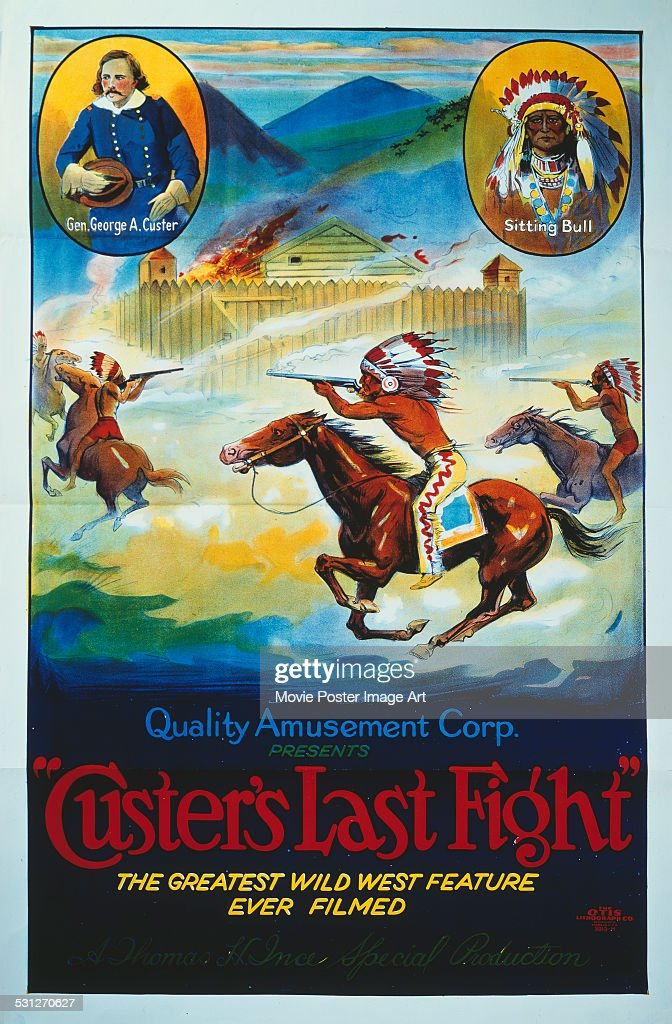 A poster for Francis Ford's 1912 western 'Custer's Last Fight'.