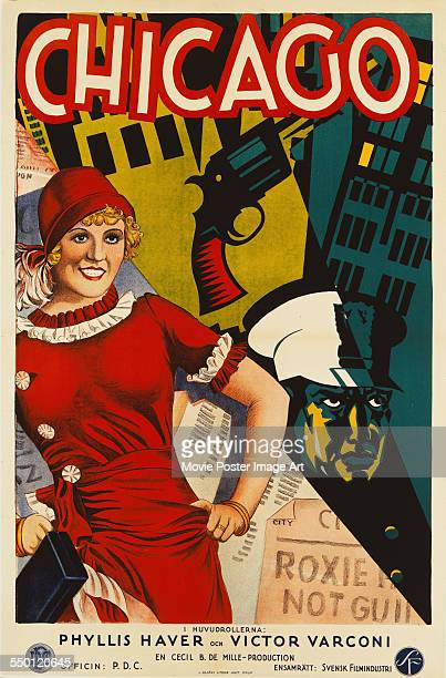 A poster for Frank Urson's 1927 comedy film 'Chicago' starring Phyllis Haver