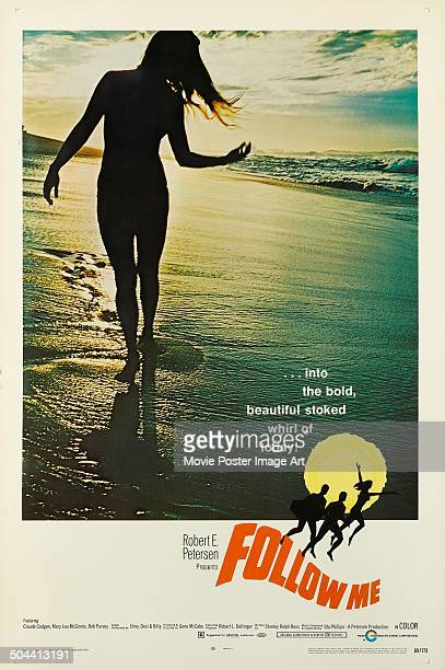 A poster for Gene McCabe's 1969 surfing documentary 'Follow Me'